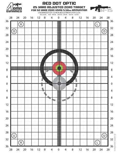 Declarative image pertaining to ar15 25 yard zero target printable